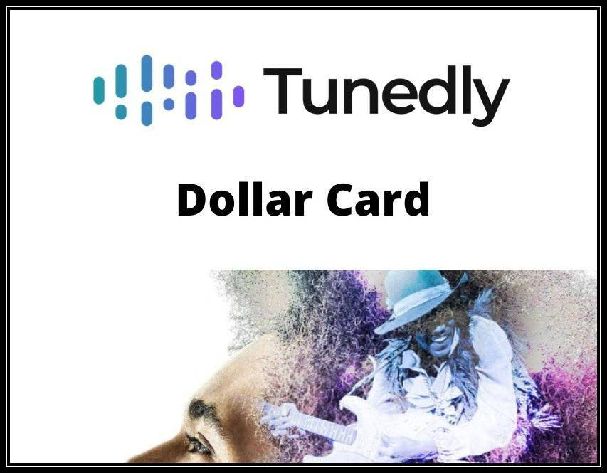 Buy a new Tunedly Dollar Card